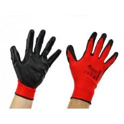 Rękawice robocze BHP powlekane nitrylem rozmiar 9