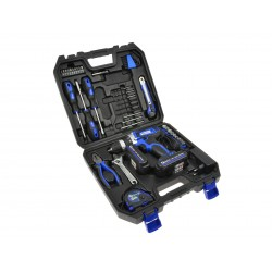 Wkrętarka akumulatorowa Li-on 18V+ narzędzia 46el.(walizka)